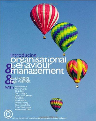 9781844800353: Introducing Organizational Behaviour and Management