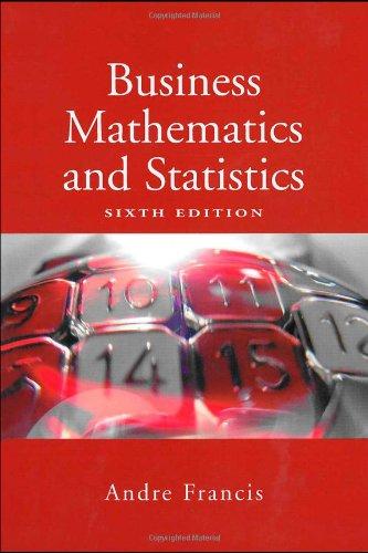 9781844801282: Business Mathematics and Statistics