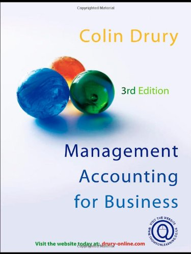 Management Accounting for Business Decisions (9781844801527) by Drury, Colin