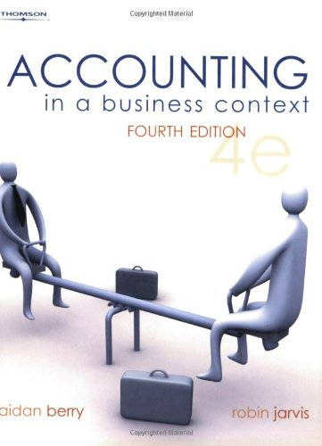 accounting in business context Accounting in a business context accounting for decision making: resource constraints and decisions which are mutually exclusive berry, aidan (et al) pages 288-304.