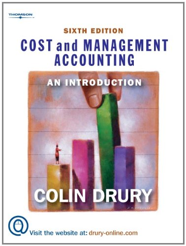 Cost And Management Accounting: An Introduction: Colin Drury