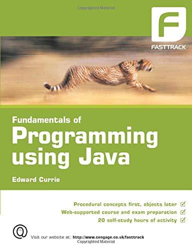 9781844804511: Fundamentals of Programming using Java (FastTrack)