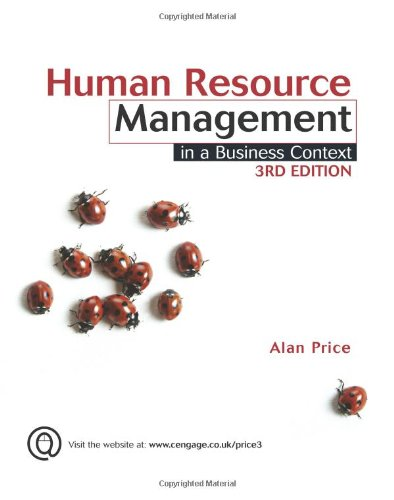 Human Resource Management in a Business Context (1844805484) by Alan Price