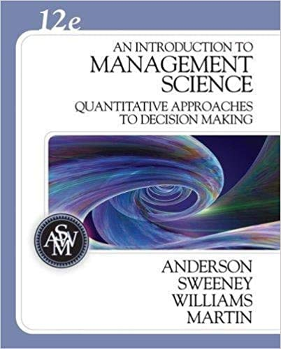 An Introduction to Management Science: Quantitative Approaches: Mik Wisniewski