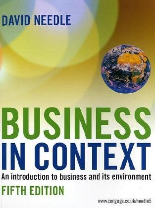9781844806133: Business in Context: An Introduction to Business and Its Environment