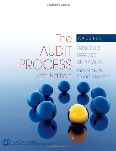 9781844806782: The Audit Process: Principles, Practice and Cases