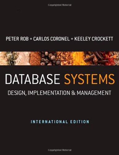 9781844807321: Database Systems: Design, Implementation & Management - International Edition