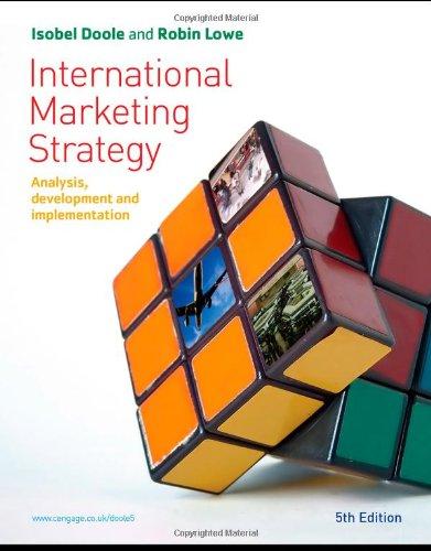 9781844807635: International Marketing Strategy: Analysis, Development and Implementation