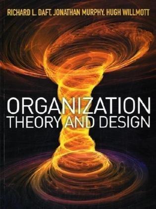 9781844809905: Organizational Theory and Design