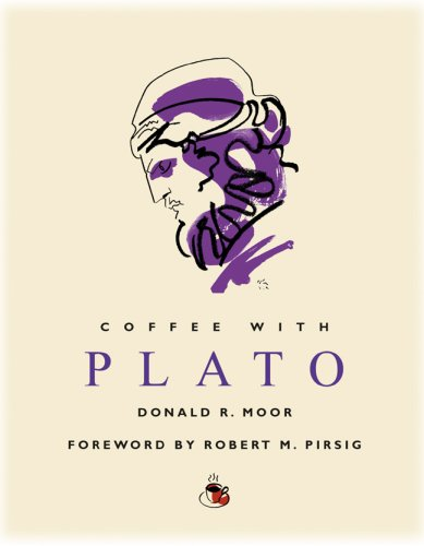 Coffee with Plato (Coffee with.Series) 9781844835089 Around 428 BC, Plato was born into one of Athens's most aristocratic families, and ultimately gathered around him some of the greatest minds of his age. Travel back to ancient Greece with Professor Emeritus of Philosophy Donald R. Moor and author Robert M. Pirsig (Zen and the Art of Motorcycle Maintenance) to meet this legendary thinker. In addition to expanding upon his famous allegory of the cave, Plato talks about learning through dialogue, the primacy of good and the price of wrong doing, democracy, freedom and censorship, women's equality, love, and mathematics, and the search for truth.