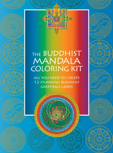 9781844838462: The Buddhist Mandala Coloring Kit: All You Need to Create 12 Stunning Buddhist Greetings Cards