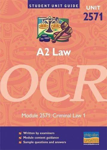 9781844890194: A2 Law OCR Unit 2571: Criminal Law 1 Student Unit Guide (Student Unit Guides)