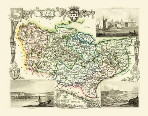 9781844911301: Thomas Moule Map of Kent 1836: 20