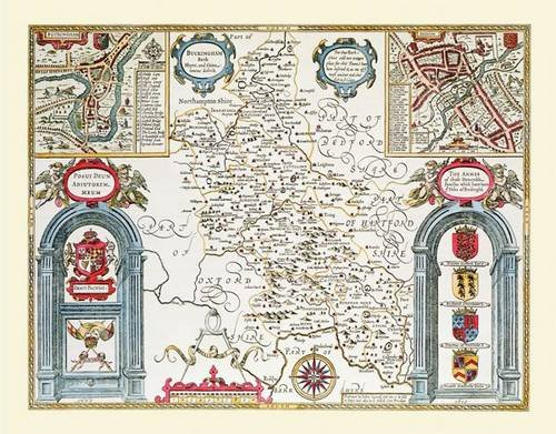9781844914296: John Speed's Map of Buckinghamshire 1611: Large Poster Sized Photographic Quality Print of Map of Buckinghamshire1611