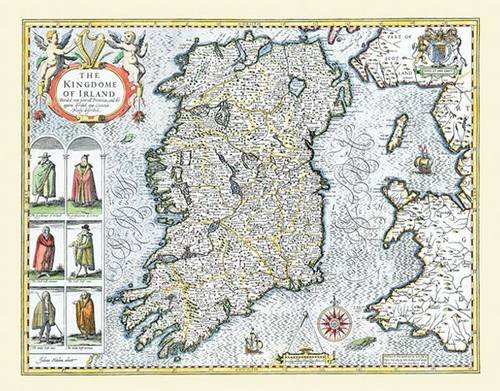Large Map Of Ireland.9781844914661 John Speed S Map Of Ireland 1611 30 X 25 Large