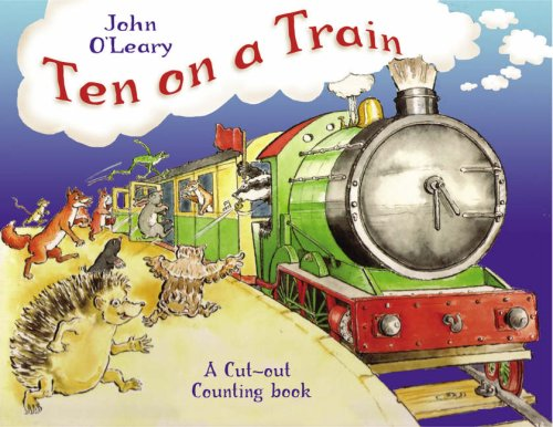 9781845077150: Ten on a Train: A Cut-out Counting Book