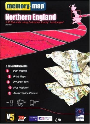 9781845140786: Memory Map V5 OS 1:50,000 Std Edition - Northern England