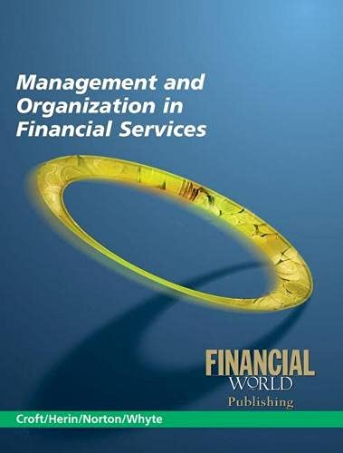 9781845163563: Management and Organization in Financial Services