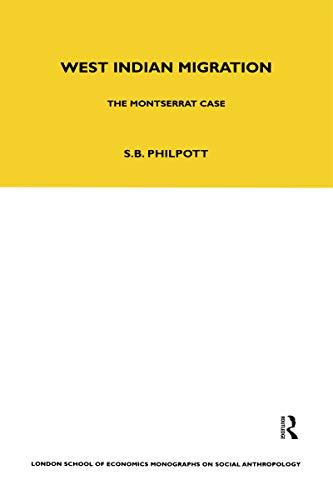 West Indian Migration: The Montserrat Case: Stuart B. Philpott