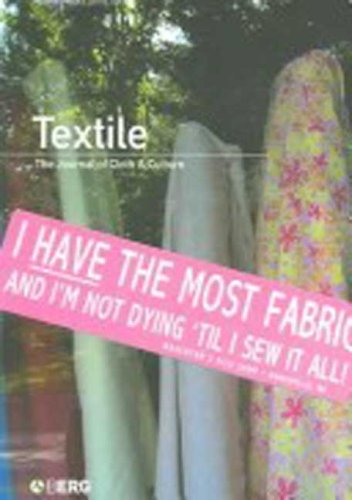 9781845204235: Textile, Volume 4, Issue 1: The Journal of Cloth and Culture