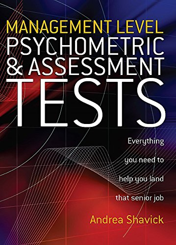 9781845280284: Management Level Psychometric and Assessment Tests: Everything You Need to Help You Land That Senior Job