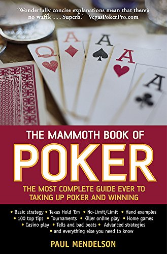 The Mammoth Book of Poker: Mendelson, Paul