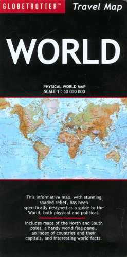 9781845375171: Travel Map World (Globetrotter Travel Map)