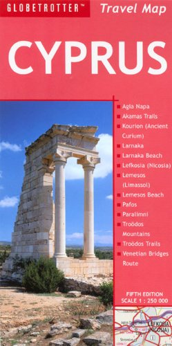 9781845376444: Cyprus (Globetrotter Travel Map)