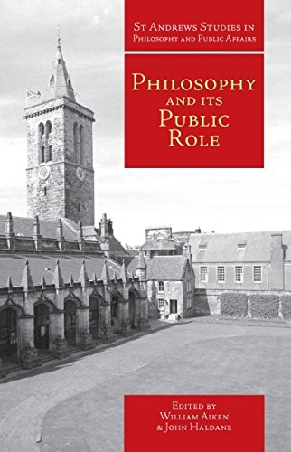 Philosophy and Its Public Role (Paperback)