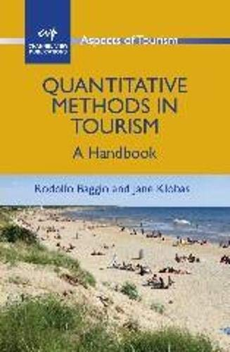 9781845411749: Quantitative Methods in Tourism: A Handbook (ASPECTS OF TOURISM)