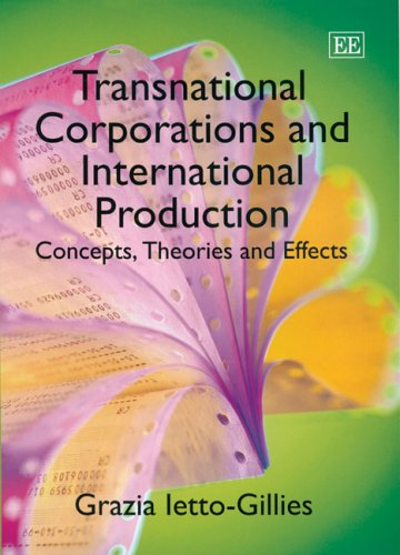 9781845422554: Transnational Corporations And International Production: Concepts, Theories And Effects