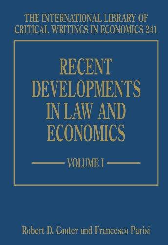 Recent Developments in Law and Economics (Hardback)