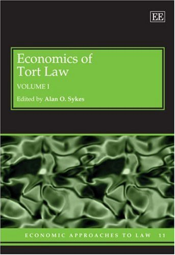 Economics Of Tort Law (Economic Approaches To Law Series) ( 2 Vol Set )