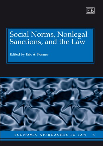 9781845424954: Social Norms, Nonlegal Sanctions, and the Law (Economic Approaches to Law)