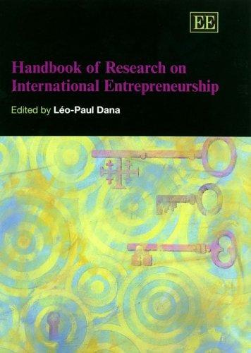 9781845426552: Handbook of Research on International Entrepreneurship (Elgar Original Reference)