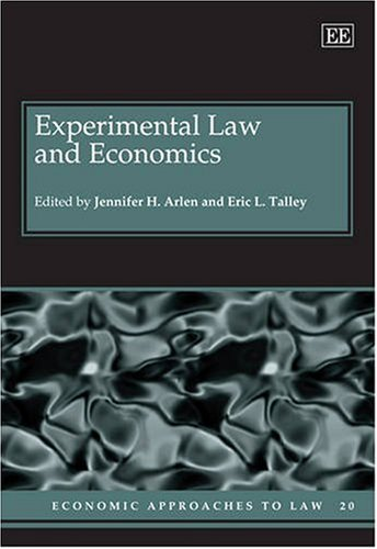9781845427122: Experimental Law and Economics (Economic Approaches to Law)