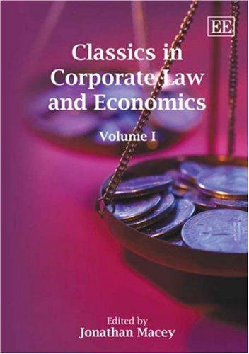 Classics in Corporate Law and Economics (Elgar Mini Series)