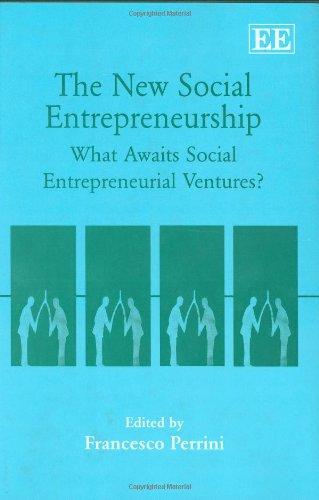 9781845427818: The New Social Entrepreneurship: What Awaits Social Entrepreneurship Ventures?