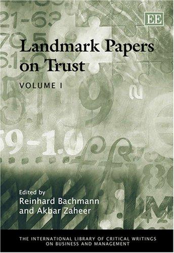 Landmark Papers on Trust (Hardcover): Reinhard Bachmann