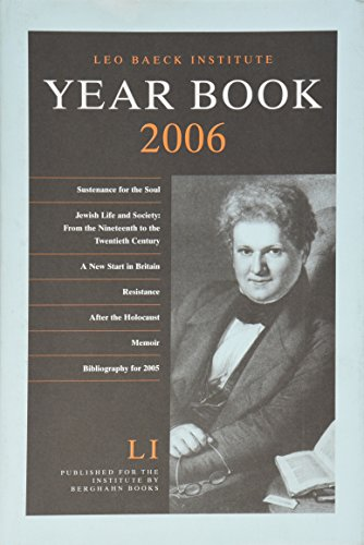 Leo Baeck Institute Year Book 2006 [LI]