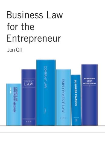 9781845490140: Business Law for the Entrepreneur