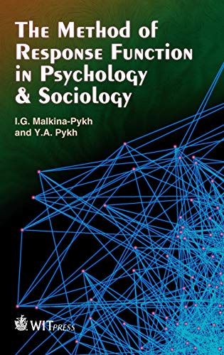 9781845646868: The Method of Response Functions in Psychology & Sociology