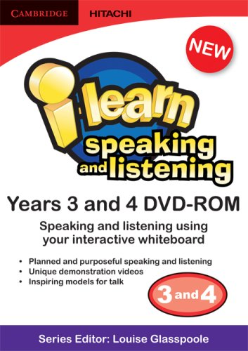 I-learn: Speaking and Listening Years 3 and 4 DVD-ROM: Years 3 4: Louise Glasspoole