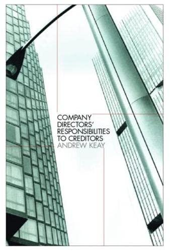 9781845680084: Company Directors' Responsibilities to Creditors