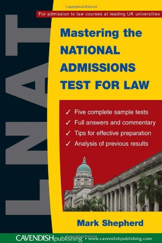 9781845680107: Mastering the National Admissions Test for Law