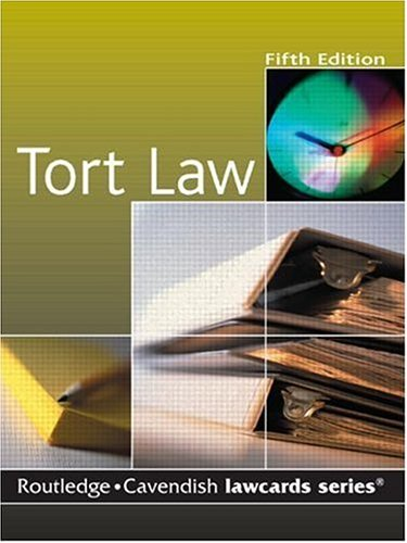 Cavendish: Tort Lawcards: Routledge