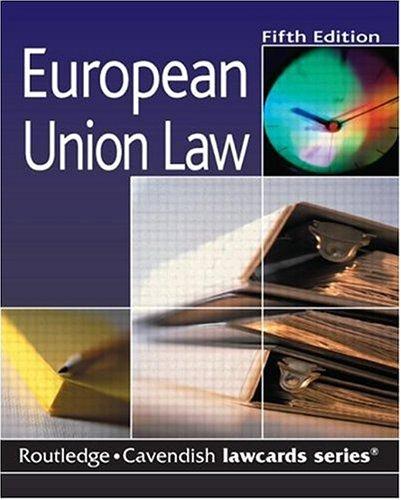 Cavendish: European Union Lawcards: Routledge