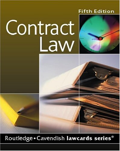 9781845680268: Cavendish: Contract Lawcards