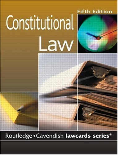 Cavendish: Constitutional Lawcards 5/e: Routledge