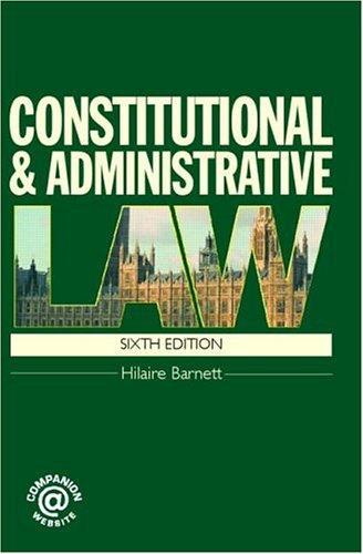 9781845680336: Constitutional & Administrative Law (Volume 1)